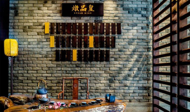 高级餐厅定制实木家具效果图案例